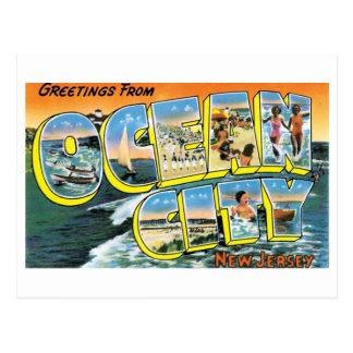 Vintage Ocean City, NJ Postcard