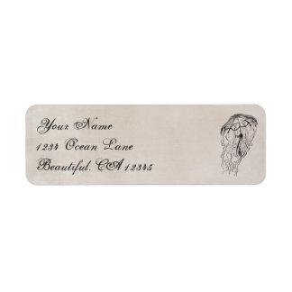 Vintage Ocean Jellyfish Beach Address Label