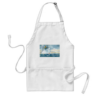 Vintage Ocean Liners Travel Poster Aprons