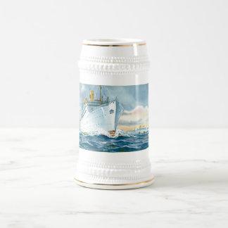 Vintage Ocean Liners Travel Poster Beer Stein