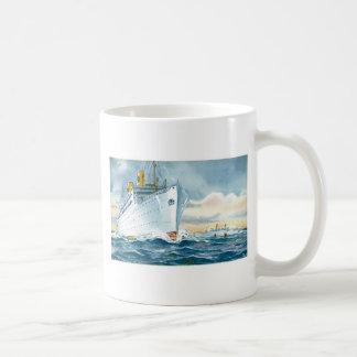 Vintage Ocean Liners Travel Poster Coffee Mugs