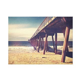 Vintage Ocean Pier Stretched Canvas Prints