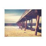 Vintage Ocean Pier Canvas Print