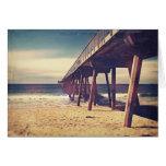 Vintage Ocean Pier Greeting Card