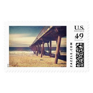 Vintage Ocean Pier Postage Stamps