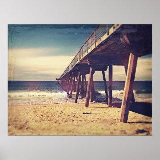 Vintage Ocean Pier Poster