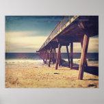 Vintage Ocean Pier Print