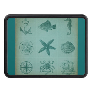 Vintage Ocean Theme Collage Tow Hitch Cover