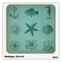 Vintage Ocean Theme Collage Wall Sticker