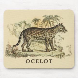 Vintage Ocelot Mouse Pad