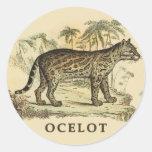 Vintage Ocelot Sticker