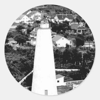 Vintage Ocracoke Lighthouse photograph Classic Round Sticker
