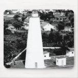Vintage Ocracoke Lighthouse photograph Mouse Pad
