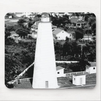 Vintage Ocracoke Lighthouse photograph Mouse Pad