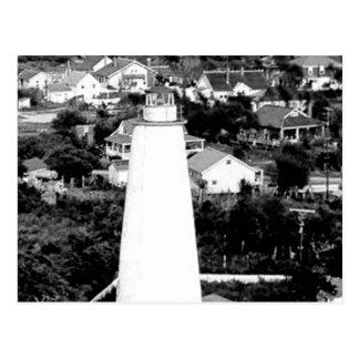 Vintage Ocracoke Lighthouse photograph Postcard