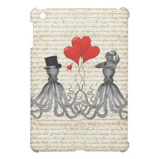 Vintage octopi and hearts iPad mini cases