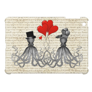 Vintage octopi and hearts iPad mini cover