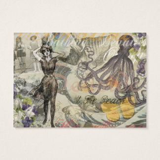 Vintage Octopus and Bathing Beauties Business Card