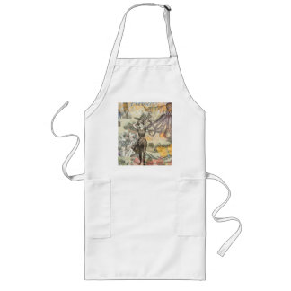 Vintage Octopus and Bathing Beauties Long Apron