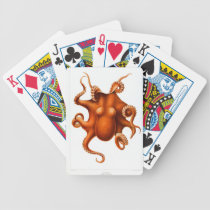 Vintage Octopus Animal Print Bicycle Playing Cards