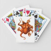 Vintage Octopus Animal Print Bicycle Playing Cards