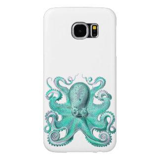 Vintage Octopus Aqua Teal Ocean Sea Samsung Galaxy S6 Case