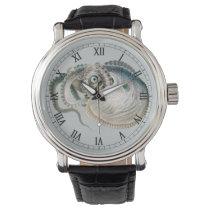 Vintage Octopus Argonaut, Marine Life Animals Wrist Watch