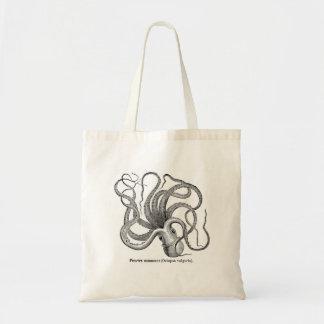 Vintage octopus bag! scientific illustration tote bag