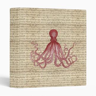 Vintage octopus binder