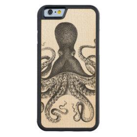 Vintage Octopus Carved® Maple iPhone 6 Bumper Case