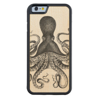 Vintage Octopus Carved Maple iPhone 6 Bumper Case