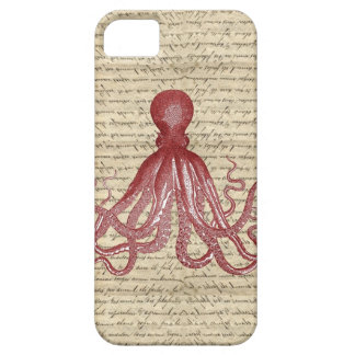 Vintage octopus iPhone 5 covers