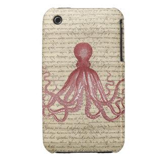 Vintage octopus Case-Mate iPhone 3 case