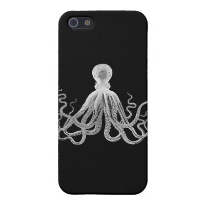 Vintage Octopus Cases For iPhone 5