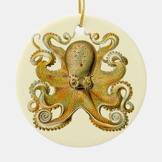 Vintage Octopus Ceramic Ornament