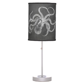 Vintage Octopus Chalkboard Background Template Table Lamp