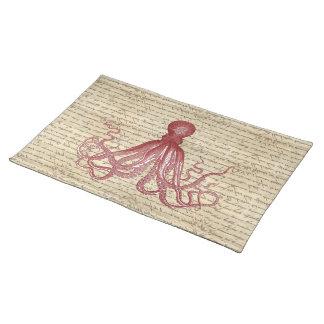 Vintage octopus cloth placemat