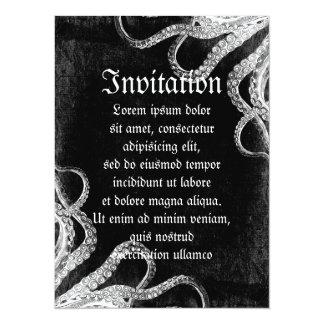 Vintage Octopus Dark 5.5x7.5 Paper Invitation Card