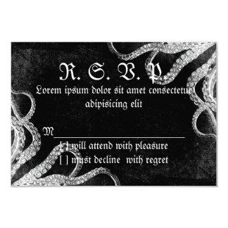 Vintage Octopus Dark 3.5x5 Paper Invitation Card