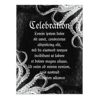 Vintage Octopus Dark 6.5x8.75 Paper Invitation Card