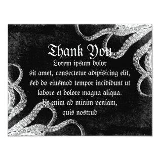 Vintage Octopus Dark 4.25x5.5 Paper Invitation Card