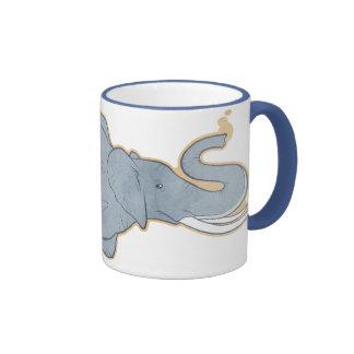 Vintage Octopus Elephant Coffee Mug