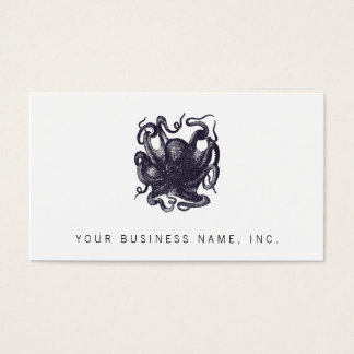 Vintage Octopus Illustration Business Card