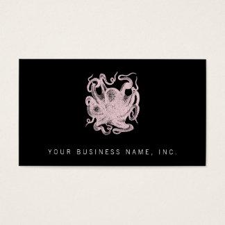 Vintage Octopus Illustration Business Card