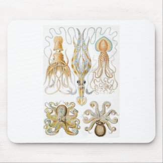 Vintage Octopus Illustration Mouse Pad