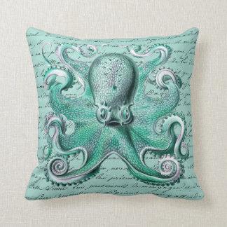 Vintage Octopus Illustration - Octopoda Vulgaris Pillow