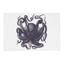 Vintage Octopus Illustration Placemat