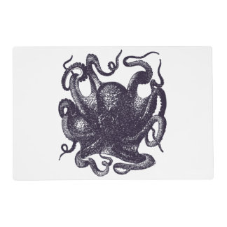 Vintage Octopus Illustration Placemat