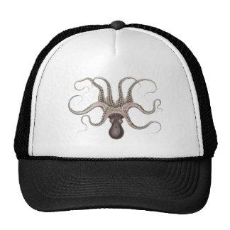 Vintage Octopus Illustration Trucker Hat