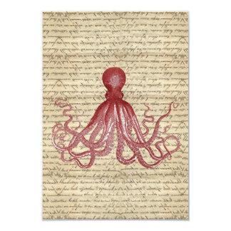 Vintage octopus invitations